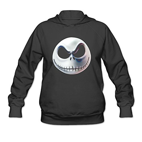 Nightmare Before Christmas Halloween Emoji Women's Hooded Sweatshirt]()