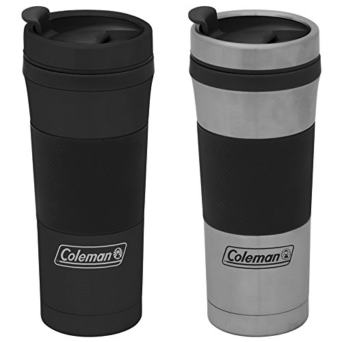 Coleman Stainless Steel Travel Mug, 14.5-Ounce, Assorted Colors