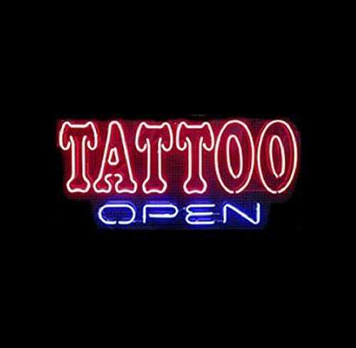 Tattoo Open Neon Sign 17''x14''Inches Bright Neon Light for Business Beauty Spa Salon Shop Store