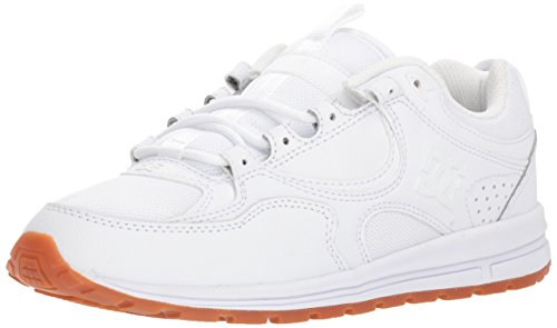 DC Women's Kalis Lite Skate Shoe, White/Gum, 8 Medium US by DC