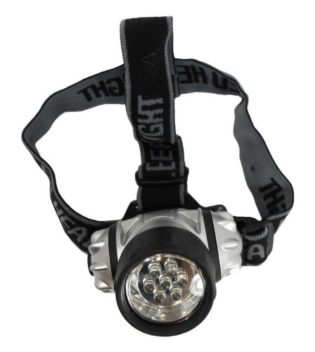 ThinkTank 7 LED Headlamp Water Resistant Light - For Head, Hat Or Helmet, With Elastic Head Strap