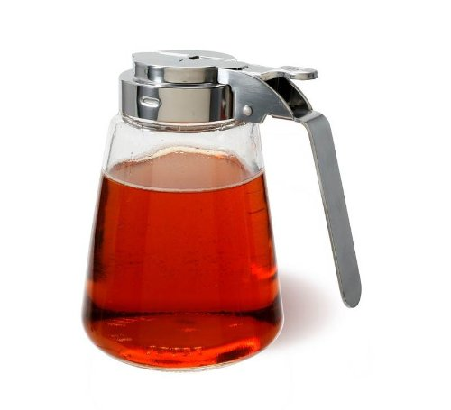 Stainless Steel and Glass 11 ounce Syrup Dispenser