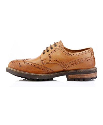 Red Tape Rojo Cinta Redtape Bracken Marrón Piel Para Hombre Classic Brogues Formal Smart Zapatos Cordones UK 7–�?2