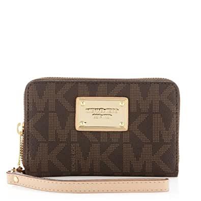 michael kors electronic iphone logo zip wallet handbags. Black Bedroom Furniture Sets. Home Design Ideas