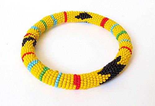 African Zulu beaded round bracelet - - Hand Bracelet Beaded