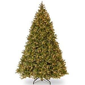 National Tree (PEDD1-312-100) Feel-Real Downswept Douglas Hinged Tree with 1000 Clear Lights 6