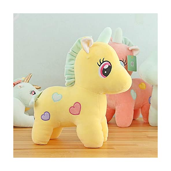 SillyMe Extra Soft Stuffed Toy for Girls Kids – 25cm | Stretchable Soft Feather Cotton Fabric (Yellow)