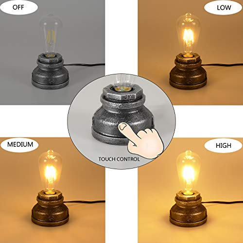 Amazon.com: Vintage Touch Control Table Lamp,Included A ...