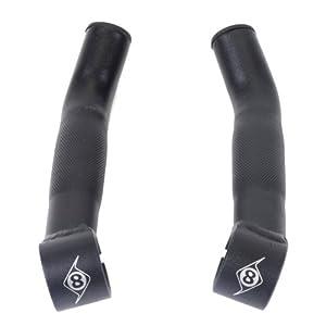 Origin8 Compe Lite Bar End, Short, Black