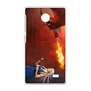 Flame of dinosaur and lovely girl Cell Phone Case for Nokia Lumia X