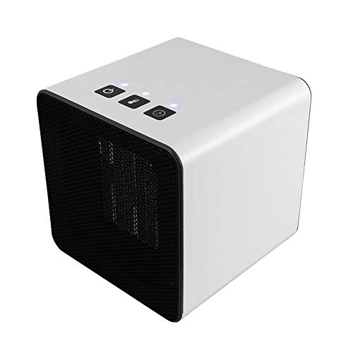 Fdgnb Portable Space Heater 400W/800W Personal Mini Fan Heater Ceramic Small Heater with Thermostat & Tip Over Protection, White, for Home, Office, Bedroom