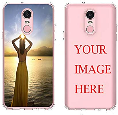 LG Stylo 4 Case,AMASELL Personalized Custom Picture Phone Case,Design Your  own Inserts Online Shockproof Clear Transparent Soft Rubber Case,Make Your