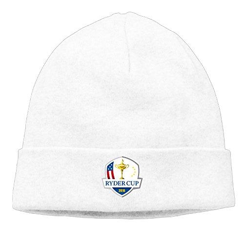PHOEB Ryder Cup Men's & Women's Beanie Cap Hat Ski Hat Caps Hip-hop Hat White (Paige Beanie)