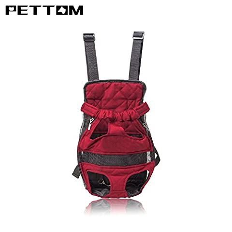 Pettom Front Cat Dog Backpack Travel Bag Carrier Free Your Hands Lightweight and Safe Small - Gravity 16 Inch Bike