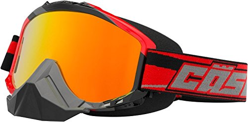 Castle Force SE X2 Snowmobile Goggles-Red by Castle