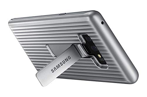Samsung Galaxy Note9 Case, Rugged Military Grade Protective Cover with Kickstand, Silver