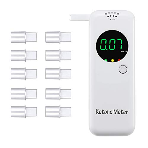 Ketone Meter Ketosis Breath Analyzer Detecting Ketones with 10 Mouthpieces