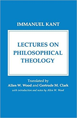 Book Lectures on Philosophical Theology by Immanuel Kant (1986-09-16)