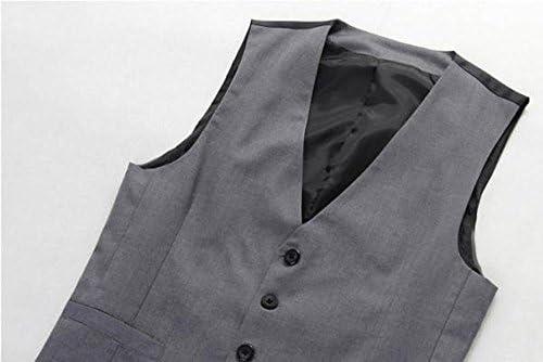 (POMAIKAI) ベスト ジレ メンズ グレー 無地 スーツ フォーマル 結婚式 カジュアル チョッキ