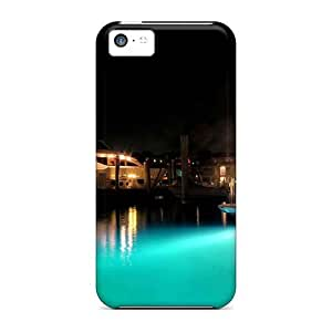 5c Scratch-proof Protection Cases Covers For Iphone/ Hot Festival Of Lights Show Boat Phone Cases