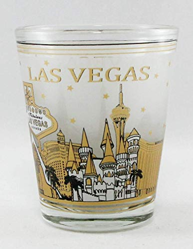 Las Vegas Nevada Black & Gold Skyline Shot Glass (Las Vegas Shot Glass)