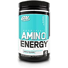 Optimum Nutrition Amino Energy, Blueberry Mojito, Preworkout and Essential Amino Acids with Green Tea and Green Coffee Extract, 30 Servings