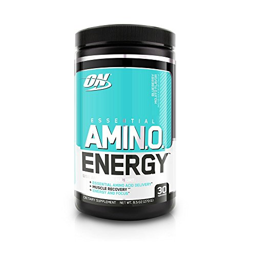Optimum Nutrition Amino Energy, Blueberry Mojito, Preworkout and Essential Amino Acids with Green Tea and Green Coffee Extract, 30 Servings (Tea Green Vitamins)