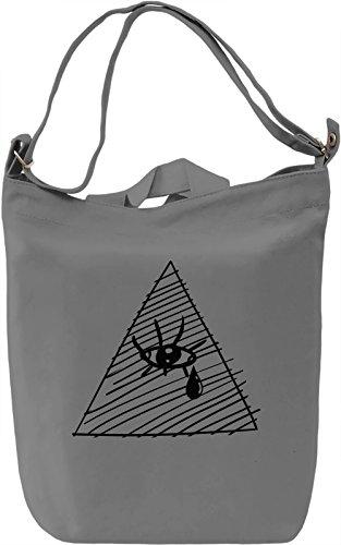 All seeing eye Borsa Giornaliera Canvas Canvas Day Bag| 100% Premium Cotton Canvas| DTG Printing|
