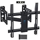 Corner TV Wall Mount Bracket Tilts, Swivels, Extends - Full Motion Articulating TV Mount for 26-55 Inch LED, LCD, Plasma Flat Screen TVs - Holds up to 99 Lbs, VESA 400x400 - Heavy Duty TV Bracket