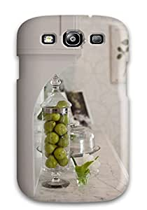 Chris Bullock Fashion Protective Ogee Edged Marble Countertops In White Kitchen Case Cover For Galaxy S3