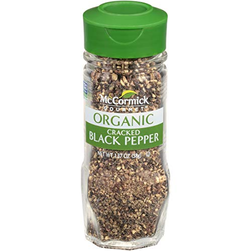 (McCormick Gourmet Organic Cracked Black Pepper, 1.37 oz)