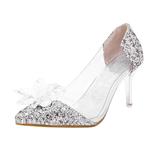 - Clearance Sale! Women's High Heels Shoes, Jiayit Women's Summer Pointed Rhinestone Sandals Crystal Flower High Heels Shoes Wedding Event Party Club Dress Shoes