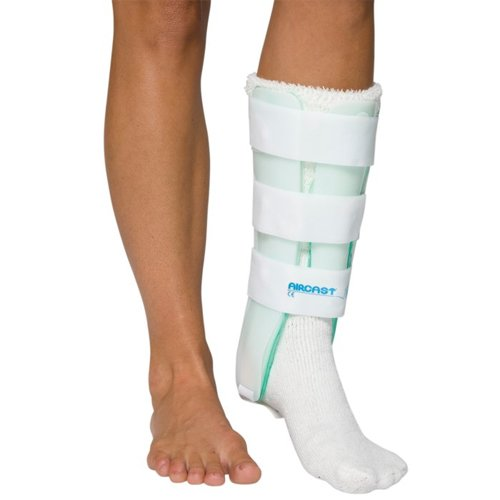 Aircast 03BR Leg Brace, Standard with Anterior Panel, Right, 15-1/2