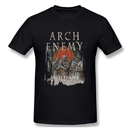 HUO ZAO Men's Arch Enemy Album Stolen Life Comfortable Short Sleeve T-Shirts Black