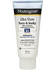 Neutrogena Ultra Sheer Face & Body Sunscreen Lotion SPF50 88mL