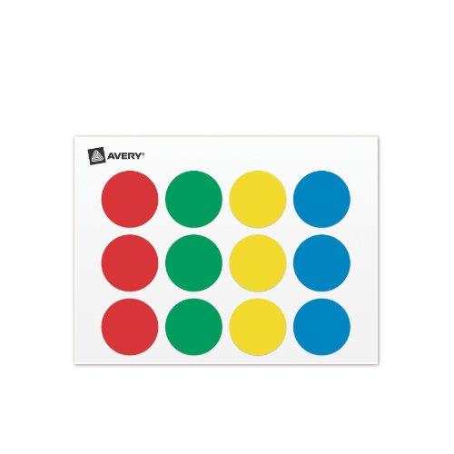 Amazon Avery Color Coding Label Pad 075 Inch Diameter