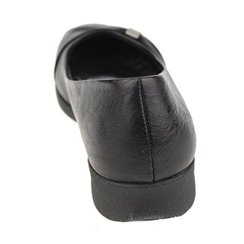 Aarz señoras de las mujeres de la tarde Comfort Shoes Casual partido Sandalias Tamaño (Negro, Marrón) Negro