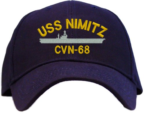 USS Nimitz CVN-68 Embroidered Baseball Cap - Navy