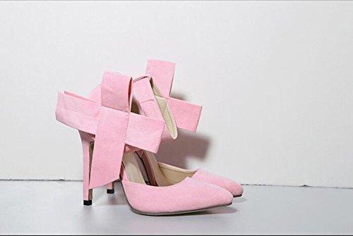 GRRONG Zapatos De Mujer Zapatos De Tacón Alto Las Mujeres Escoge Los Zapatos De Gran Tamaño Pink