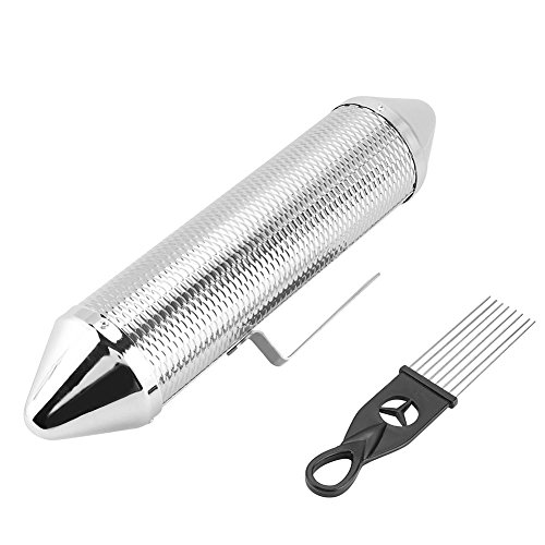 Stainless Steel Guiro, Durable Guiro with ScraperMusical Percussion Instrument with Scraper