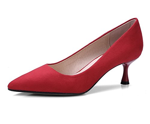Con Nvxie 34 Bombas Medio Red Tacón Moda Punta De Altos Tacones 38 Primavera Mujer Zapatos Discotecas Verano 5cm TAqrA6w0Z