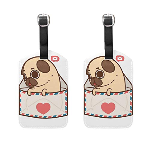 You've Got Mail Luggage Tag Travel ID Label Leather for Baggage Suitcase - Set of 2