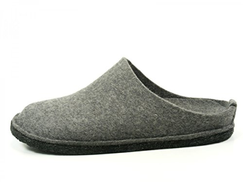 Haflinger Soft 311010-1 - Pantuflas de fieltro unisex antracita