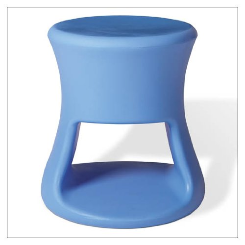 OFFI Co. Tiki Stool, finish = Tiki Blue