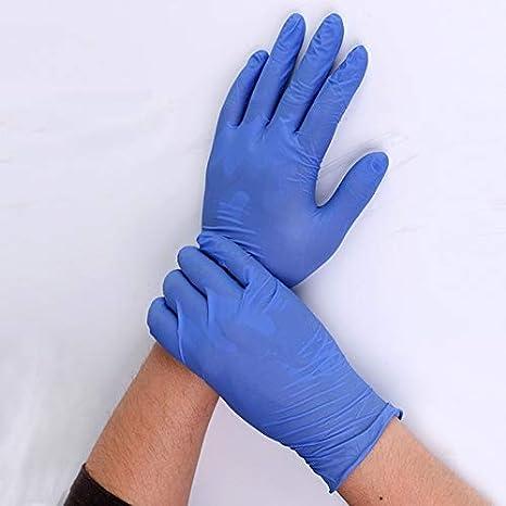 Size : L JEHRSZZ 100pcs l/átex Guantes de protecci/ón contra la contaminaci/ón engrosadas Guante desechable de nitrilo Resistente al Aceite prevenir la infecci/ón de contactos