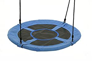 """Tree Swing - SWINGING MONKEY PRODUCTS Giant 40"""" Saucer Swing, Blue - Platform Swing, Easy to Install"""