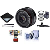 Rokinon 35mm f/2.8 AF Ultra Compact Lens for Sony E Mount - Bundle With 49mm Filter kit, Lens Wrap, Cleaning Kit, Capleash II, Lenspen Lens Cleaner, Mac Software Package