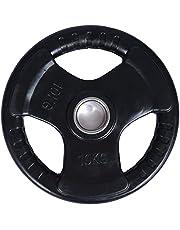 Skyland Rubber Gym Weight Plate EM-9264, 10 Kgs - Black