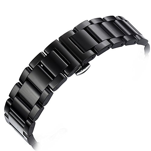 18mm-Black-Waterproof-Stainless-Steel-Watch-Bands-in-Top-Class-Straight-End-Deployment-Buckle