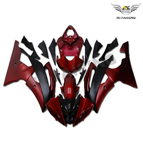 - NT FAIRING Red Black Injection Mold Fairing Fit for Yamaha 2008-2016 YZF R6 New Painted Kit ABS Plastic Motorcycle Bodywork Aftermarket